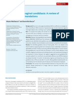 Recurrent Vulvovaginal Candidiasis a Review of Guideline Recommendations