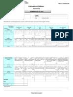 Rúbrica de Evaluación tesis