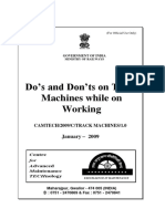 Handbook on Dos & Donts on Track Machines While on Working(1)
