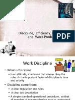 Discipline Efficiency Effectivity and Work Productivity