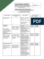 Cronograma Curso Servicio Al Cliente Mediante La Comunicacion Telefonica PDF