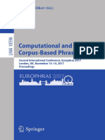 (Lecture Notes in Artificial Intelligence 10596) Ruslan Mitkov (eds.) -  Computational and Corpus-Based Phraseology_ Second International Conference, Europhras 2017, London, UK, November 13-14.pdf