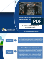 PPTS MODULO I Derecho Minero Marco Legal de La -Activ Minera