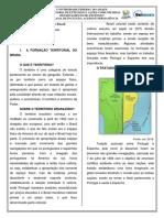 Geografia Do Brasil Formação Terriotorial
