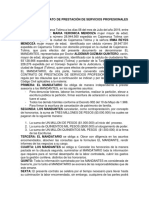 Modelo de Contrato de Prestación de Servicios Profesionales de Abogado