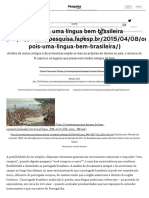 Ora Pois, Uma Língua Bem Brasileira _ Revista Pesquisa Fapesp