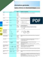 Formules d'lectrotechniques