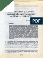 J.J. Saldaña, El sector externo y la ciencia nacional