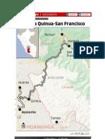 Ruta Carretera Quinua San Franciso - Perú