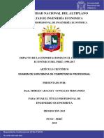 Impacto de Las Exportaciones en El Crecimiento Económico del Peru