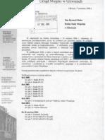 Uzupełnienie odpowiedzi na interpelację media - IX 2006 r.