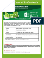 Advanced Excel Notes
