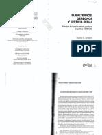 SALVATORE, RICARDO; El Proceso Criminal y Derechos Sublternos