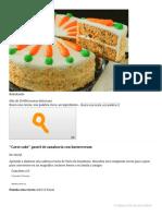 ''Carot Cake'' Pastel de Zanahoria Con Buttercream (4.8_5)