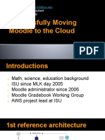 Successfully Moving Moodle to the Cloud