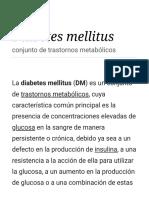 Diabetes Mellitus -