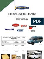 Filtros Equipo Pesado 2019