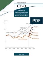 CBO Minimum Wage Report