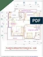 PLANO ARQUITECTÓNICO CASA 1 PLANTA