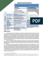 Balance socio-económicos del Dpto. de Aruauca