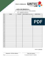 UAITEC LAB - Lista de Presença - Final de Semana