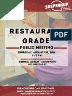 Restaurant Grade Flyer