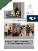 MODELOS CLÍNICO TERAPÉUTICOS Y DE FORTALECIMIENTO DE LA SALUD