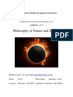Philosophy of Nature 2017-18