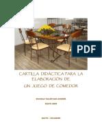 ELABORACIÓN DE UN JUEGO DE COMEDOR
