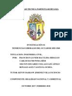 Tendencias Liberales Del Ecuador 1895 1960 Revisado