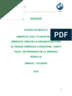 Ficha Ambiental, Estudios de Impactos Avbietales y Plan de Manejo Ambiental Parque Comercial