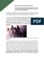 Independencia de Las Colonias Españolas