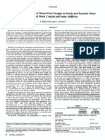 Rheological Properties of Wheat Flour Doughs in Steady and Dynamic Shear