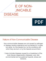 Nature of Non-Communicable Disease