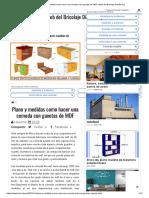 Plano y Medidas Como Hacer Una Comoda Con Gavetas de MDF _ Web Del Bricolaje Diseño Diy