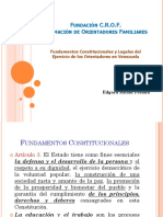 Fundamentos Constitucionales y Legales Del Ejercicio de La Orientación