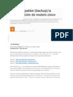 Como Respaldar Cisco