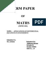 Maths 101 Term Paper