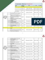 FRM Part I - Study Schedule - Offline Class