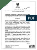 Resolución  188 de 2019 IDPAC