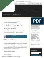 Ds18b20, Sensor de Temperatura - Hetpro_tutoriales