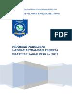PANDUAN PENULISAN LAPORAN LATSAR CPNS t.a 2019 [edited] (1).doc