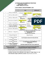 Jadual Kerja Penyeliaan Praktikum 2 Jun 2019