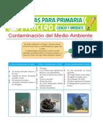 Contaminación Del Medio Ambiente Para Tercero de Primaria