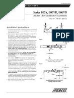 Series 805Y, 805YD, 806YD Installation Instructions