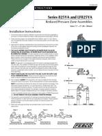 Series 825YA and LF825YA Installation Instructions