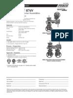 MasterSeries 876V Specification Sheet