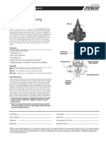 "Series PRV-2 1/2"" – 1"" Specification Sheet"