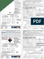 WATTS TYPE NEMA 4X FS20 FLOW SWITCH Installation Instructions