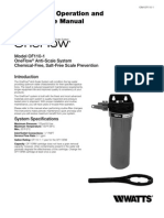 Model OF110-1 OneFlow Anti-Scale System Installation Instructions